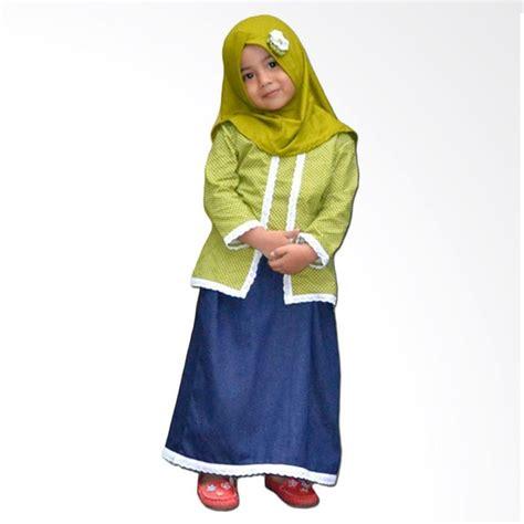 Calista Top Katun jual elbi calista set baju muslim anak balita hijau harga kualitas terjamin