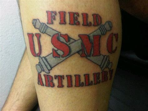 artillery tattoo designs marine corps artillery tattoos