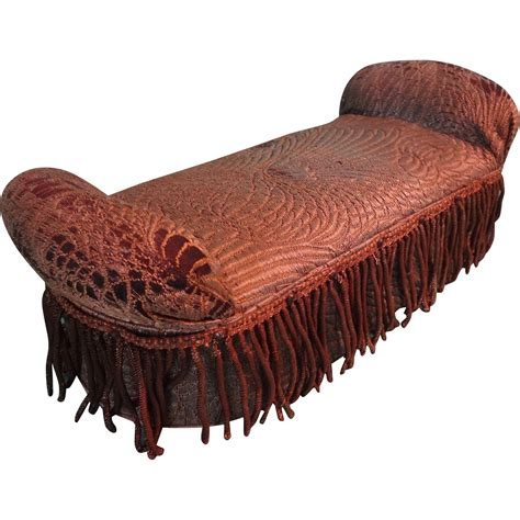 fainting bench fabulous miniature doll s fainting couch upholstered bench