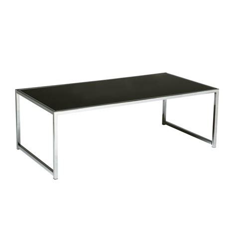 Black Glass And Chrome Coffee Table Ave Six Yield Chrome And Black Glass Coffee Table Yld12 The Home Depot