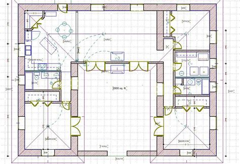 House Plans With Attached Guest House A Straw Bale House Plan 1479 Sq Ft