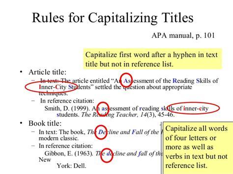 apa book title reference capitalization apa advanced lr