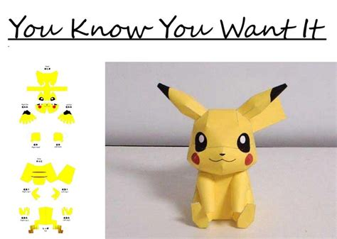 Pikachu Papercraft Template - pikachu paper cut out images images