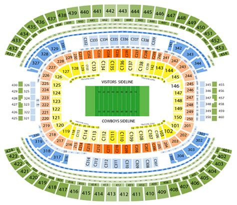 att stadium view from seats at t stadium seating chart football