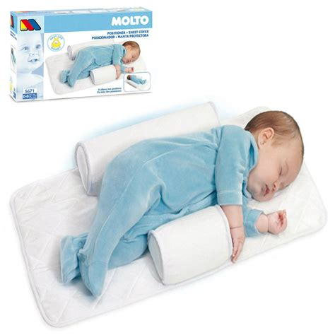 Infant Pillows by Molto Baby Infant Newborn Sleep Positioner Anti Roll
