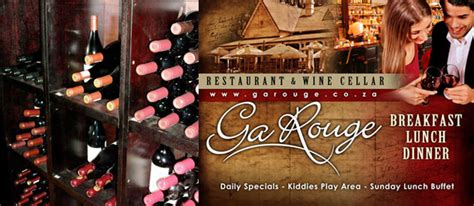 Garouge Restaurant Ga Restaurant Wine Cellar Businesses In South Africa