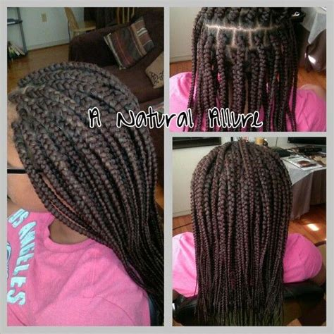 mid back braids mid back length box braids installed using xpression