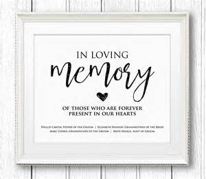 in loving memory templates in loving memory wedding sign editable text personalize