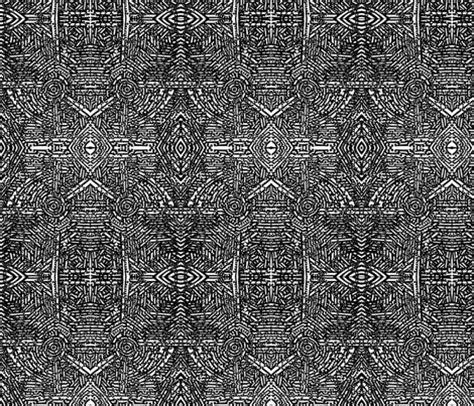 Stiker Pengiriman Shop Black Doodle black and white doodle fabric linsart spoonflower