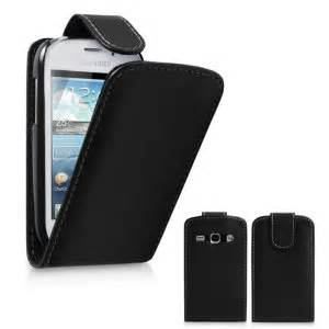 Hardcase Samsung Fame leather style flip for samsung galaxy fame black