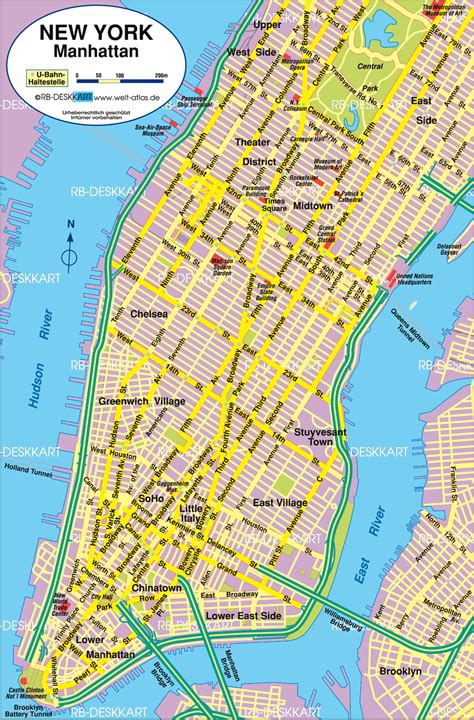 a map of manhattan new york map of new york manhattan united states map in the