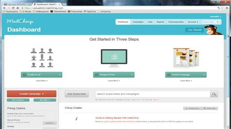 upload template to upload html template on mailchimp