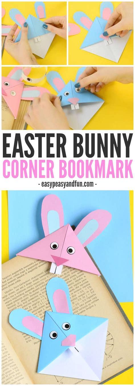 Easy Origami Easter Bunny - easter bunny corner bookmark easy beginner origami for