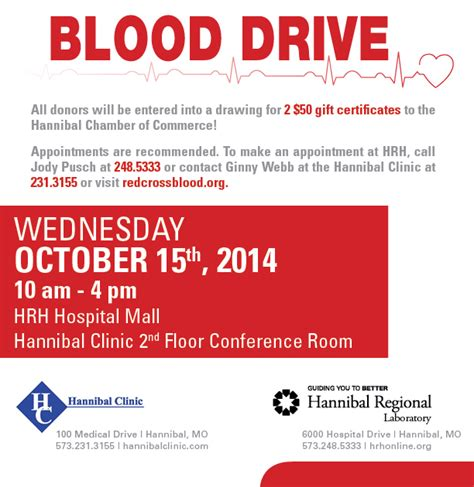 Blood Drive Iv Newsletter Hannibal Regional Healthcare Hospital Missouri Mo Drive Newsletter Template