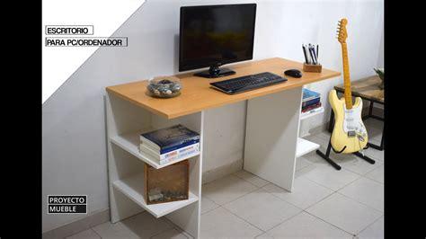 escritorio de melamina facil de hacer easy computer
