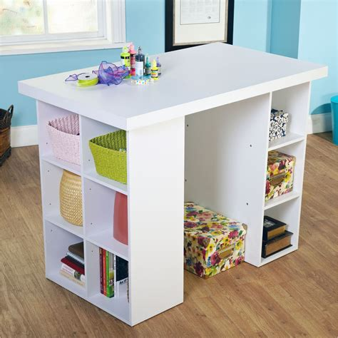 table with cubby holes simple living counter height craft desk by simple living