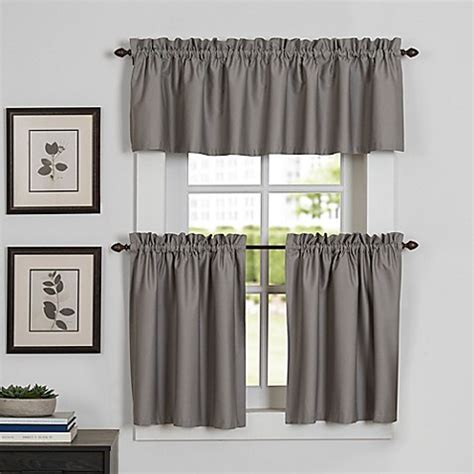 Tier Curtains For Kitchen Newport Kitchen Window Curtain Tier And Valance Bed Bath Beyond