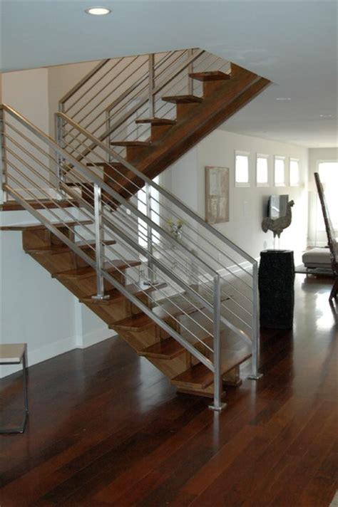 Bungalow Stairs Design Historic Bungalow With A Modern Transformation Modern Staircase Nashville By Lankford