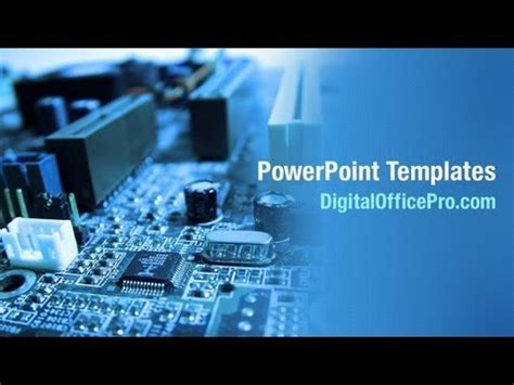 Circuit Board Parts Powerpoint Template Backgrounds Electronics Engineering Ppt Templates Free