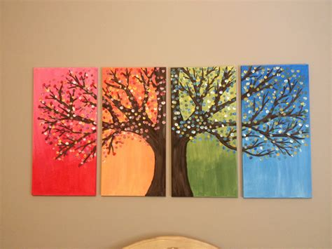 canvas craft ideas for diy canvas painting of tree stuff to try