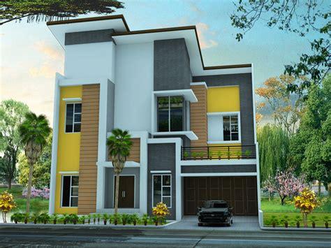 cat warna rumah minimalis dua lantai informasi desain