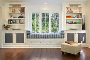 Bookcase 12 Deep Beautiful Window Seat And Built In Cabinets