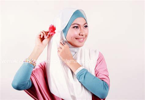 tutorial dandan hijab tutorial hijab modis dan praktis vemale com