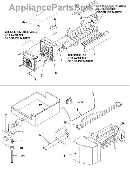 whirlpool refrigerator maker parts diagram whirlpool 67006666 harness maker appliancepartspros