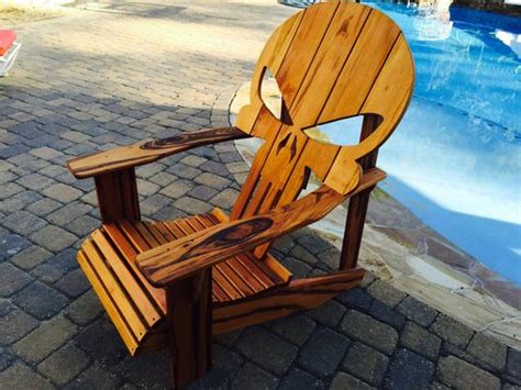 buy  custom skull adirondack chair   order