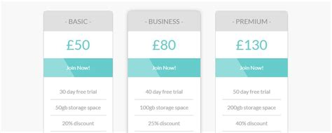 css layout list 15 awesome comparison and pricing table templates to check
