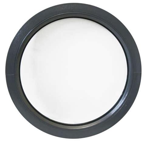 oeil de boeuf porte 4212 fen 234 tre ronde fixe 75 cm anthracite int et ext pvc oeil