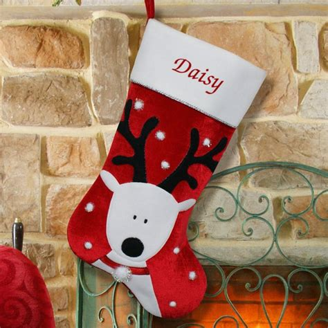 christmas stocking ideas reindeer christmas stocking personalized lovadog