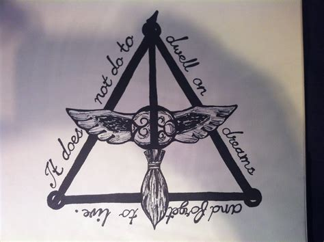 i made this as a tattoo design for my friend harrypotter