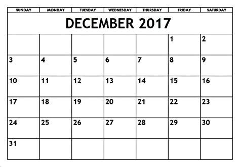 printable calendar of december 2017 blank december 2017 calendar