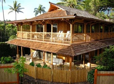 The Construction Of Bamboo House Design Beautiful Homes Design