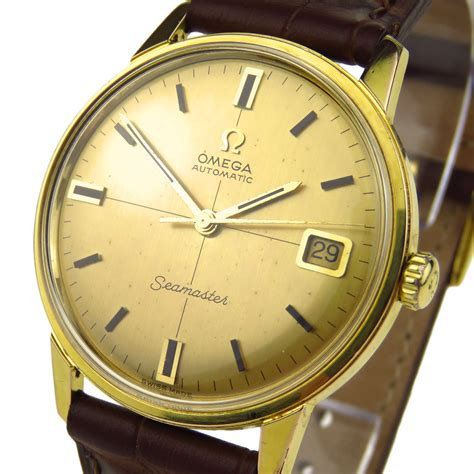 Omega Seamaster Silver Automatic omega seamaster vintage gold plated automatic parkers