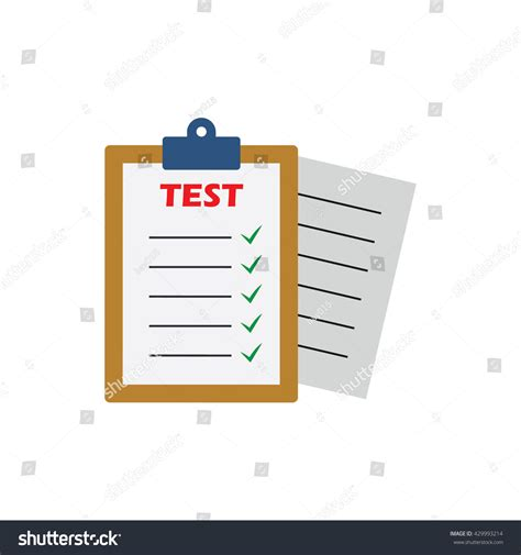 concept test test vector icon test logo isolated stock vector 429993214