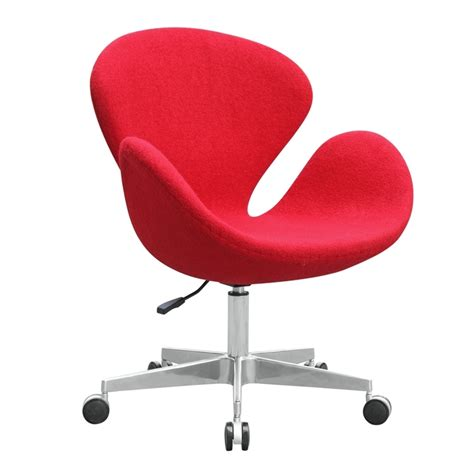 fabric desk chair with wheels office chairs swan chair fabric with casters fmi9259 3