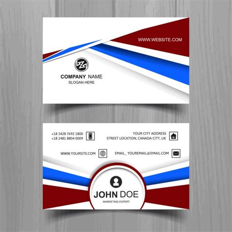 Business Card Template Freepik by Business Card Template With Abstract Shapes Vector Free