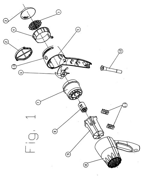 Hair Dryer Assembly patent us20050204577 hairdryer with electrostatic
