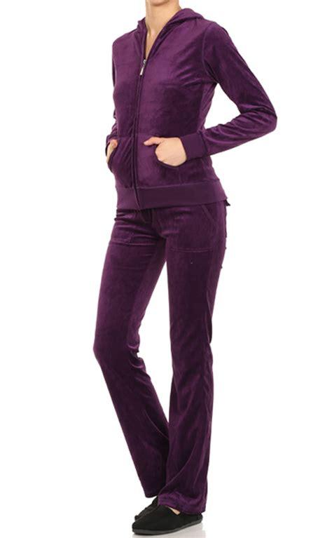 Blazer Hoodie Set velour classic hoodie sweat suit jacket and pant set ebay