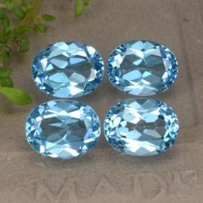 Blue Safir 9 4ct swiss blue topaz 9 4ct oval from brazil gemstones