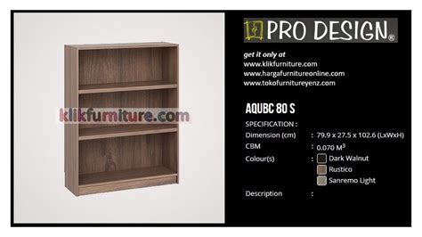 Rak Tv Pro Design aqubc 80 s pro design rak buku kecil sale