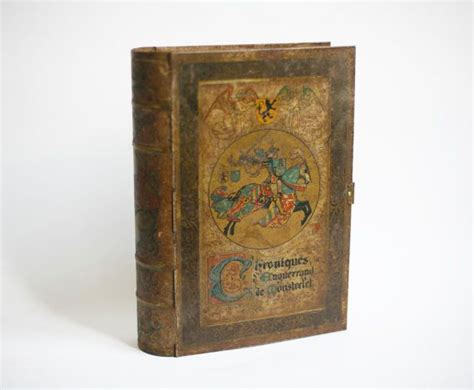 knight home decor vintage tin box shaped like a book antique home decor