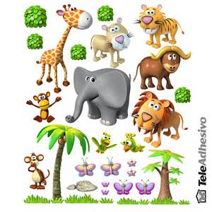 Zoo Animal Wall Stickers animals of the african jungle