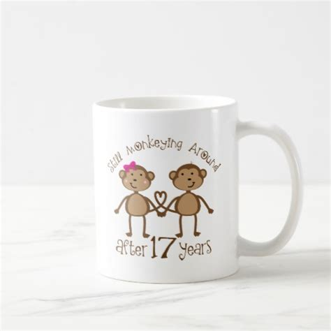 traditional 17th wedding anniversary gifts 17th wedding anniversary gifts mugs zazzle