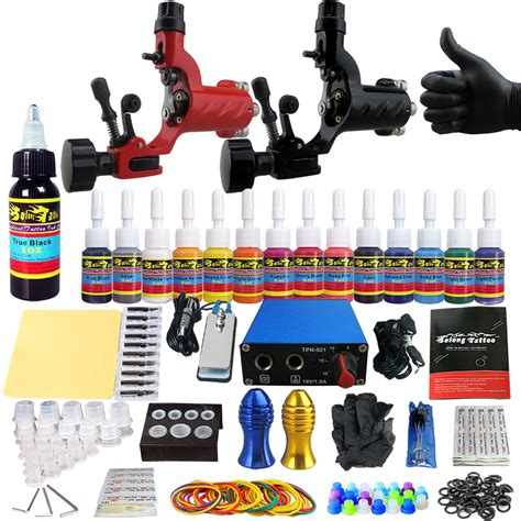 pro tattoo kits professional complete kit 2 top machine gun 14 ink
