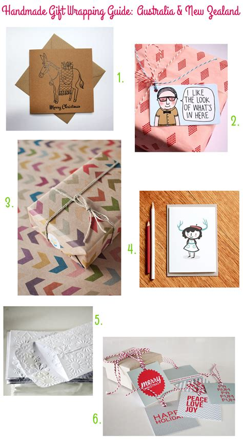 Handmade Australian Gifts - handmade gift wrapping guide style for a happy home