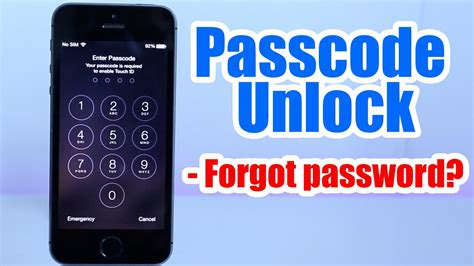 passcode unlock iphone 5 5s 5c 6 6 plus 4s 4 forgot passcode iphone disabled any ios