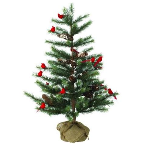 martha stewart living 3 ft indoor cardinal pine